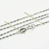 rice shape 925 sterling silver chain wholesale