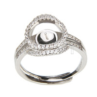 Latest Wholesale silver plated design adjustable ring fitting