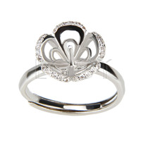 Latest Wholesale silver plated Butterfly design adjustable ring fitting