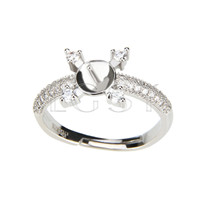 Latest Wholesale silver plated simple design adjustable ring fitting