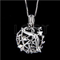 925 Sterling Silver Cupid's arrow Shape Cage Pendant