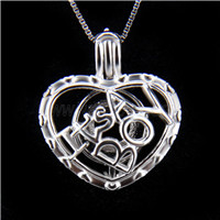 New design 925 Sterling Silver It&#39s a boy love Cage Pendant