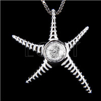 Elegant 925 Sterling Silver Starfish Shape Pendant mounting