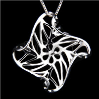 Elegant 925 Sterling Silver Leaf design Shape Pendant mounting