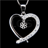 Newest 925 Sterling Silver Heart shape Pendant fitting