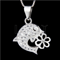 Newest 925 Sterling Silver Fish design Pendant fitting