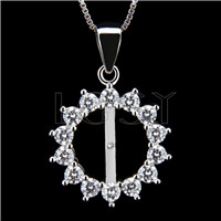 Newest 925 Sterling Silver Round shape Pendant fitting