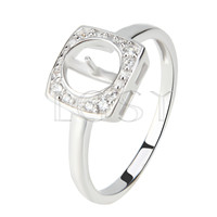 Latest Wholesale simple design 925 Sterling Silver ring mounting